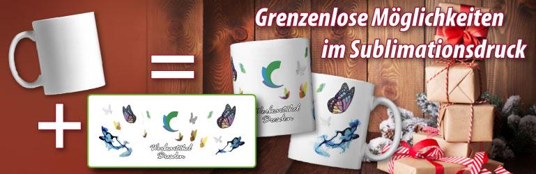 Tassen mit individuellem Design bedrucken