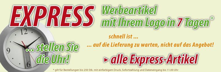 Werbeartikel Dresden Express - Werbeartikel in 7 Tagen