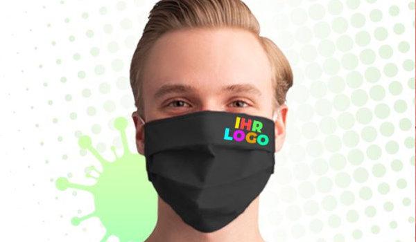 Mundschutzmasken mit Logo als Werbeartikel