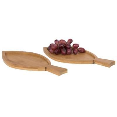 2-teiliges Bambus-Amuse-Bouche-Set Fisch-holz