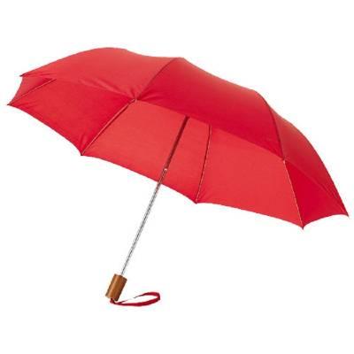 20 Zoll Oho Schirm mit 2 Segmenten-rot