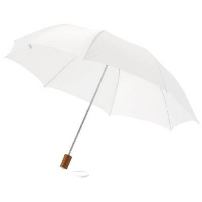 20 Zoll Oho Schirm mit 2 Segmenten-weiß