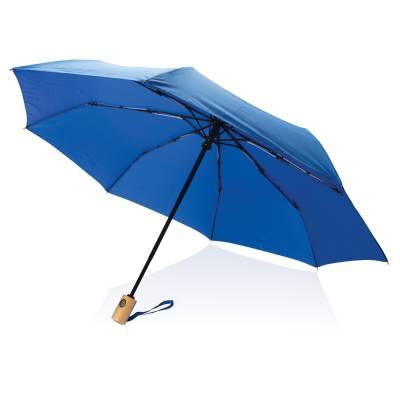 21 Zoll RPET Schirm mit automatischer Öffnung und Schließung-blau