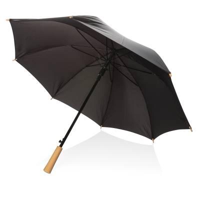 23 Zoll RPET Schirm mit automatischer Öffnung-schwarz