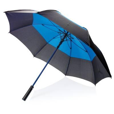 27 Zoll Duo Color Storm-Proof Schirm mit automatischer Öffnu-blau