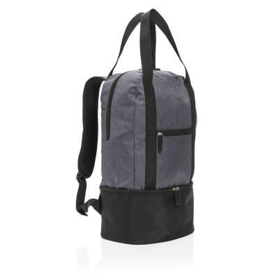 3in1 Kühltasche Stralsund-grau-schwarz