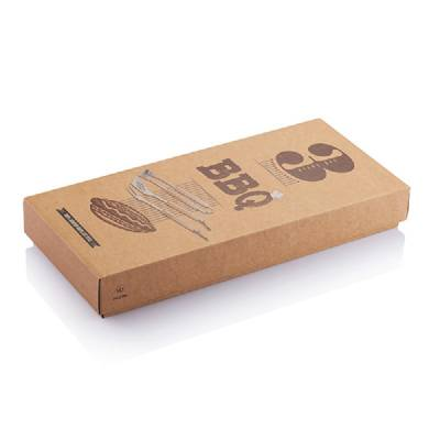 3tgl. Bambus Grillset - braun