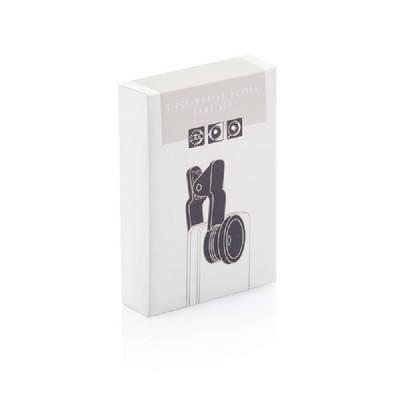 3tlg. Linsenset für mobile Geräte - schwarz