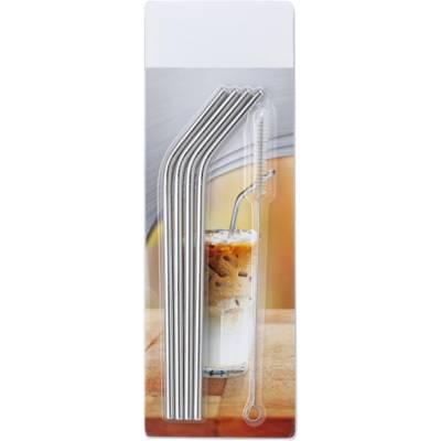 4er-Set Strohhalme Straw aus Edelstahl