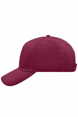 5 Panel Cap-MB6117-rot(weinrot)-one size