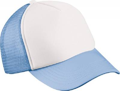 5 Panel Polyester Mesh Cap for Kids-MB071-blau-one size