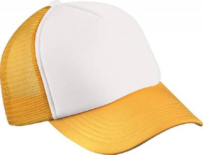 5 Panel Polyester Mesh Cap for Kids-MB071-gelb-one size