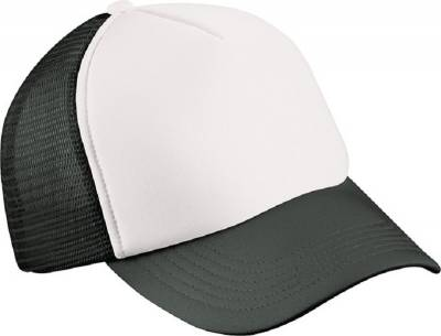 5 Panel Polyester Mesh Cap for Kids-MB071-schwarz-one size