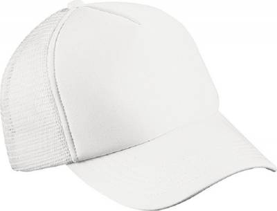 5 Panel Polyester Mesh Cap for Kids-MB071-weiß-one size