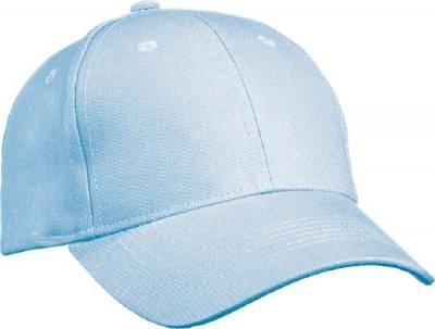 6 Panel Cap Heavy Cotton-MB091-blau(hellblau)-one size