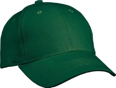 6 Panel Cap Heavy Cotton-MB091-grün(dunkelgrün)-one size