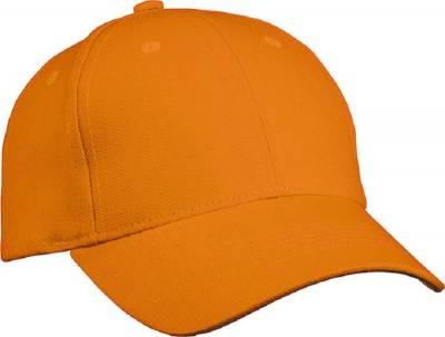 6 Panel Cap Heavy Cotton-MB091-orange-one size