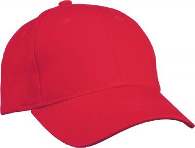 6 Panel Cap Heavy Cotton-MB091-rot-one size