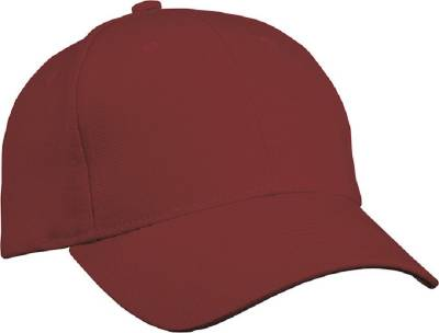 6 Panel Cap Heavy Cotton-MB091-rot(weinrot)-one size
