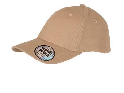 6 Panel Elastic Fit Baseball Cap-MB6206-braun-S/M