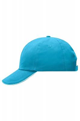 6 Panel Raver Sandwich Cap-MB6112-turquoise-weiß-one size