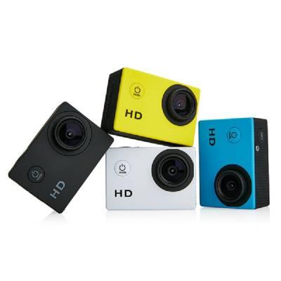 Action Kamera mit Zubehör - weiß
