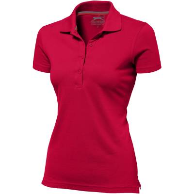 Advantage Damen Kurzarm Poloshirt-rot-S