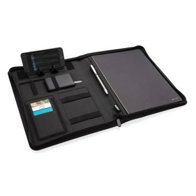 Air 5W RPET Wireless Charging Portfolio A4-schwarz