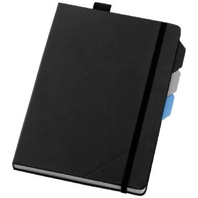 Marksman Alpha Notizbuch mit Seitentrennern-schwarz