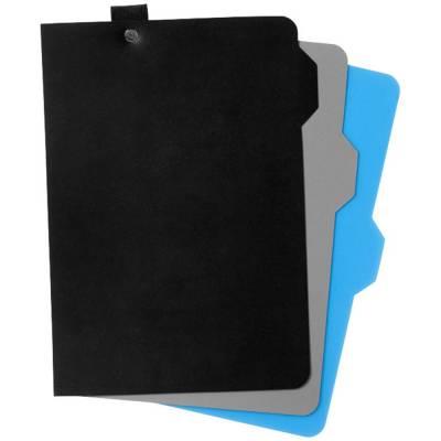 Alpha Notizbuch mit Seitentrennern-schwarz