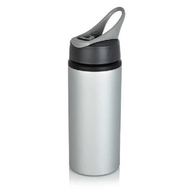 Aluminium Sportflasche - grau