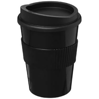 Americano® Medio 300 ml Becher mit Schutzring-schwarz-schwarz