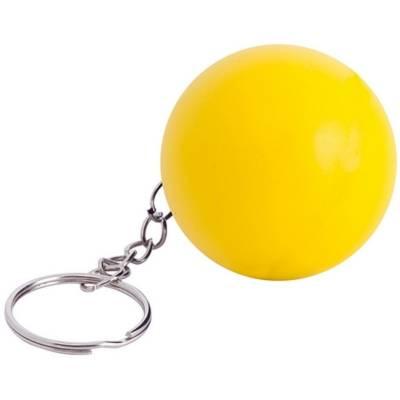 Anti-Stress-Spielzeug Ball als Schlüsselanhänger - gelb