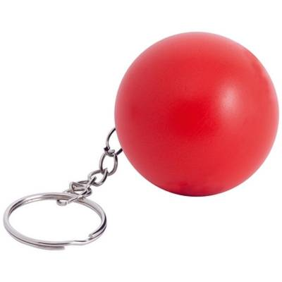 Anti-Stress-Spielzeug Ball als Schlüsselanhänger - rot