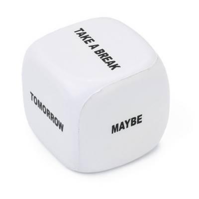 Anti-Stress-Spielzeug Entscheidungstreffer-weiß-