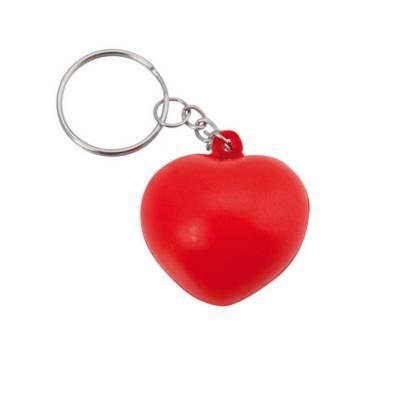 Anti-Stress-Spielzeug Herz als Schlüsselanhänger-rot