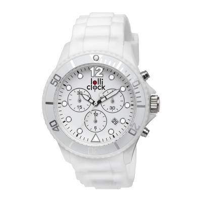 Armbanduhr LOLLICLOCK-CHRONO-weiß