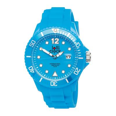 Armbanduhr LOLLICLOCK-DATE-blau(hellblau)