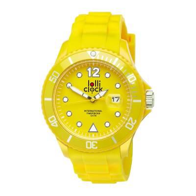 Armbanduhr LOLLICLOCK-DATE-gelb