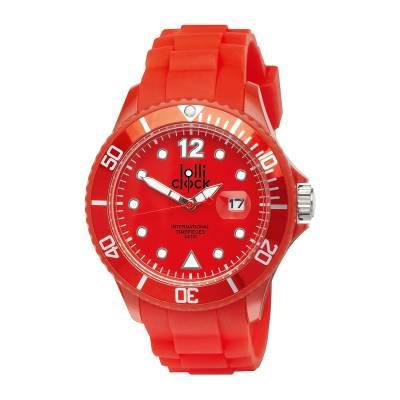 Armbanduhr LOLLICLOCK-DATE-rot
