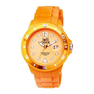 Armbanduhr LOLLICLOCK-NEON DATE-orange