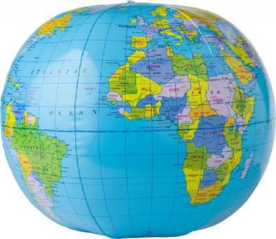 Aufblasbarer Wasserball Globus