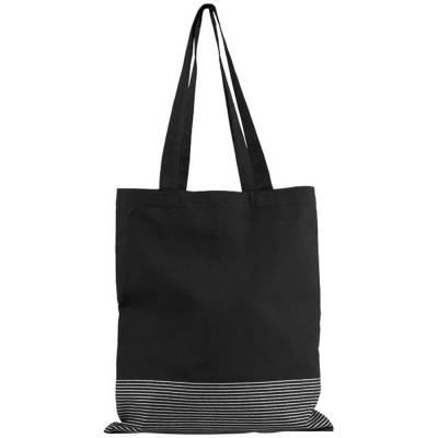 Aylin Tragetasche aus 140 g/m² Baumwolle mit Silberfutter-schwarz