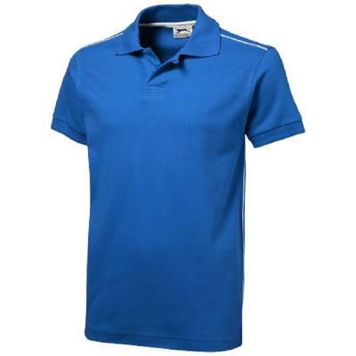 Backhand Polo  - himmelblau - weiß - S