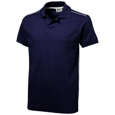 Backhand Polo  - navy - weiß - S