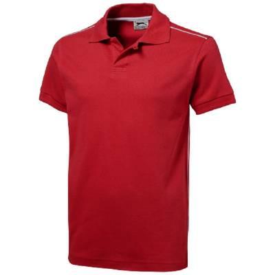 Backhand Polo  - rot - weiß - S