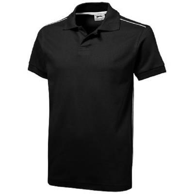 Backhand Polo  - schwarz - weiß - S