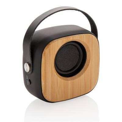 Bambus 3W Wireless Fashion Speaker-schwarz