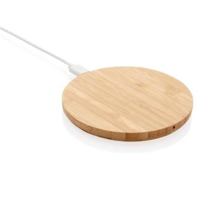 Bambus 5W Wireless Charger Bebra-braun