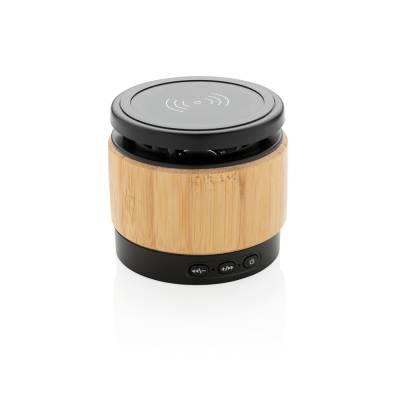 Bambus Wireless Charger und Lautsprecher Montabauer